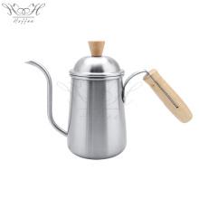 Hand Drip Coffee Kettle Wood Handle