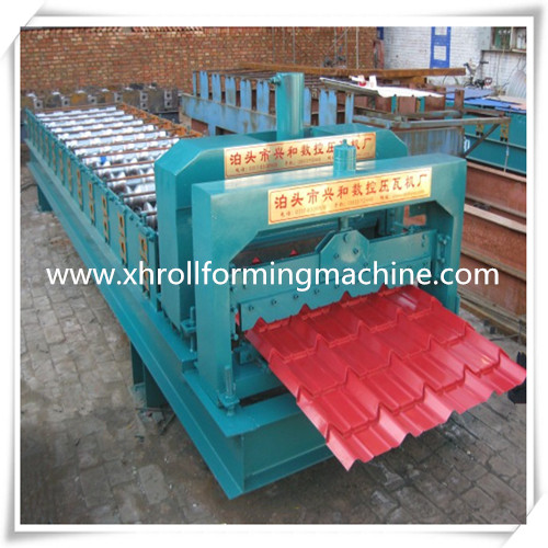 Making Steel Glazed Roofing Step Tile Forming Machine