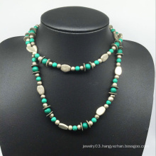 Nature Stone Alloy Beads Necklace (XJW13776)