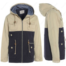 Mens Jacket COAT Hooded Casual Parka