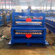 rússia tipo xinnuo c10 + c21 dupla camada rolo formando perfurado máquina de teto