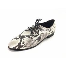 Damen Schnür Brogue Wingtip Flats Schuhe