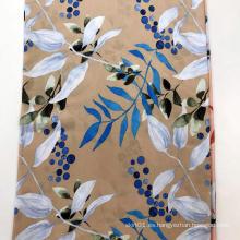 Tela de serigrafía Rayon 45S Leaf Design