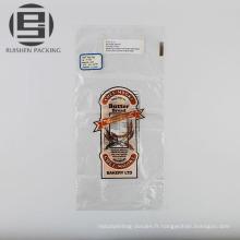 Sacs en plastique d'emballage de pain de catégorie comestible bon marché