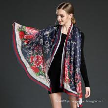 Lenços de seda Georgette para mulher