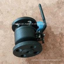 ANSI forjó la válvula de bola del extremo de la conexión del reborde del acero de carbono A105