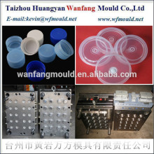 plastic transparent bottle cap injection mould/China taizhou plastic transparent bottle cap mold/medicine bottle cap mold design