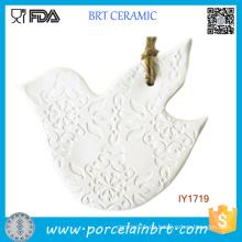 Keramische weiße Tauben-Weihnachtsbaum-Dekorations-Weihnachtsverzierung