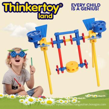 Hermoso modelo de swing juguetes educativos para 3-6 niños