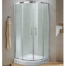 Instalação fácil de porta deslizante de chuveiro temperado