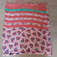 Cachecol de cor-de-rosa e lenço de viscose com 10 cm Fraldas