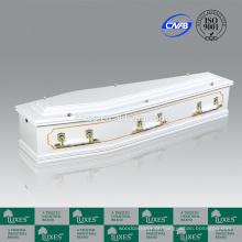 LUXES estilo australiano MDF placa caixões brancos caixão colorido