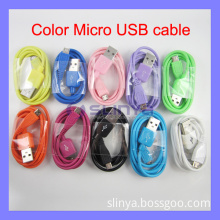 Micro USB Data Sync Adapter Charger Cable Multi Color for Samsung S4 I9500 Galaxy Note 2 S2 S3 I9100 I9220 (SL-C52)