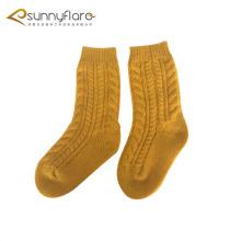 Custom cashmere knit kids socks