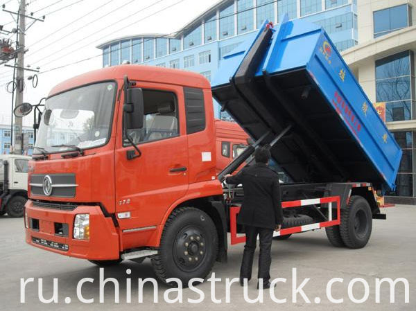 10Ton hooklift container rubbish truck