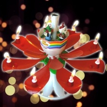Flower Music Firework Birthday Candle