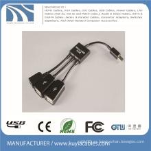 3 en 1 Adaptador del cable del anfitrión del eje de Micro USB OTG multi cable para Samsung / Tablet