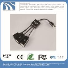 3 em 1 Micro USB OTG hub Host cabo adaptador multi cabo para Samsung / Tablet