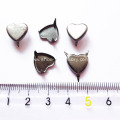Large Heart Shape Studs, Gun Metal Heart Nailheads