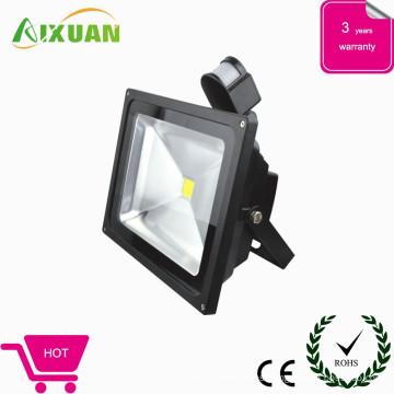 Venta caliente alta potencia 30w led luz de inundación y precio de sensor de luz con el CE, ROHS