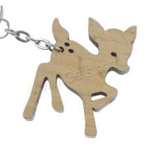 Billig Holz Original Farbe Holz Tier Schlüsselkette