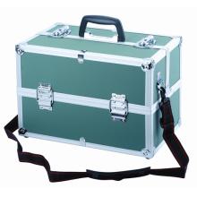 Caja de almacenamiento de instrumentos de aluminio con inserción de espuma suave
