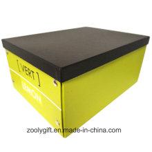 Caja de almacenaje plegable de cartón de papel de impresión de logotipo multiusos personalizado con botón de metal