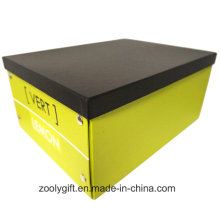 Multipurpose Custom Logo Printing Paper Cardboard Foldable Storage Box with Metal Button