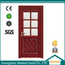 Melamina / PVC / MDF / Puerta interior de madera de pintura incombustible moldeada