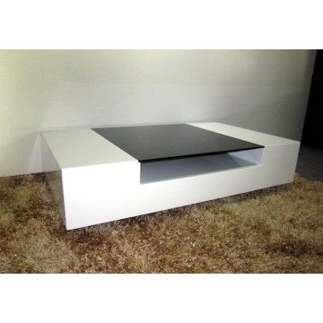 Modieuze moderne witte high gloss salontafel
