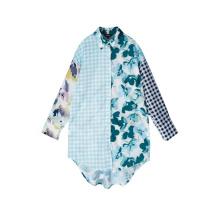 Robe chemise boutonnée à manches longues pour femmes