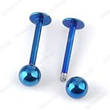 Anodized Stainless Steel Monroe Labret Ring Stud
