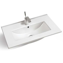 Cabinet Hand Wash Basin Latest Design Factory Porcelain Porcelain Sink Commercial Ceramic Sink Custom Basin Single Hole Modern