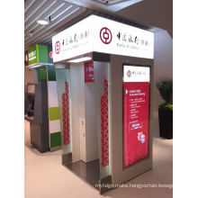 Oudoor Bank Automatic Self-Service ATM Booth with LED Light Box