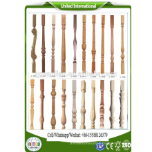 wood stair spindles handrails