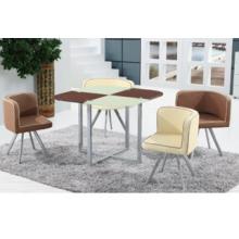 Hot verkaufen modernes Glas Esszimmer Set, Esstisch und Stuhl, Esszimmermöbel