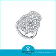 Кольца с драгоценными камнями высокого качества, покрытые родием