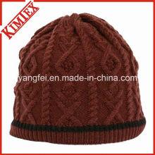 Шапочка для вязания крючком для зимы жаккарда зимой