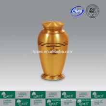 LUXES flor Metal pote urnas para cremación Urnas de ceniza de Color oro