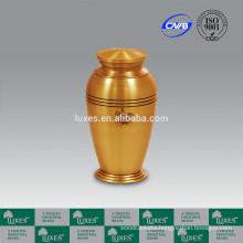LUXES Metal Flower Pot Urns For Cremation Gold Color Ash Urns