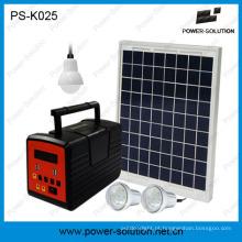 Sistema de Painel Solar 10W luz para a família com lâmpada LED e leitor de MP3