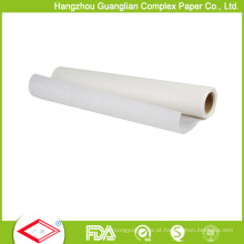 Papel de pergaminho rolado do silicone do costume não da vara para lojas varejos