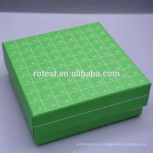 boîte de congélation cryogénique assortie pour cryovials de 1,8 ml / 2 ml