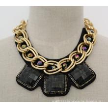 Мода акриловые циркон очарование костюм коренастый воротник ожерелье (JE0019-2)