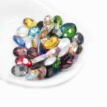 13x18mm Point Ovale Cristal Pierre Chaton Glitter Strass Pour DIY Cas de Téléphone Décoration
