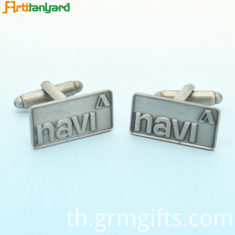 Engraved Gold Metal Cufflinks