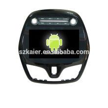 Quad core 4.4 Android dvd de voiture avec lien miroir / DVR / TPMS / OBD2 pour 9 pouces écran tactile complet 4.4 Android système Chevrolet Spark