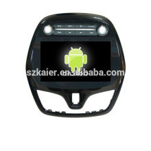 Quad core 4.4 carro Android dvd com espelho link / DVR / TPMS / OBD2 para 9 polegadas touch screen completa 4.4 Android sistema Chevrolet Spark