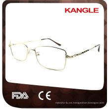 Nuevo marco de anteojos cuadrados de partido de forma de cara con certificación CE