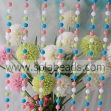 Discount 4MM&14MM Wire Acrylic Beaded Strands Garland